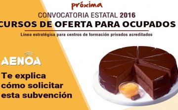 Curso técnico 'Subvenciones 2016 de formación de oferta estatal'. Madrid, 22 de junio.