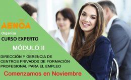MÓDULO II Curso Experto en Dirección y Gerencia de centros privados de Formación Profesional para el empleo.