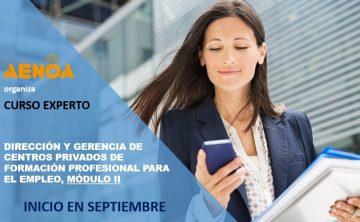 Curso Experto en Dirección y Gerencia de centros privados de Formación Profesional para el empleo.