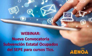 Curso: Nueva Convocatoria Subvención Estatal Ocupados del SEPE para cursos TICs.