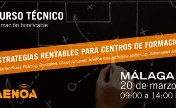 Novedades en Formación Bonificada y otras estrategias rentables para centros de formación. Alegaciones a las conciliaciones no conforme 2014 y 2015. Málaga