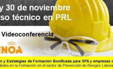 Webinar: Gestión y Estrategias de Formación Bonificada para SPA y empresas de PRL