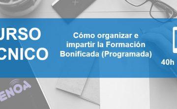 Curso Online: Cómo organizar e impartir la Formación Programada (Bonificada)