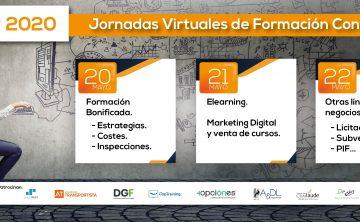 Jornadas virtuales de Formación Continua: 20, 21 y 22 de mayo.