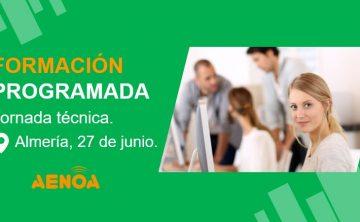 Jornada técnica. Gestión de la Formación Bonificada. Almería, 27 de junio.