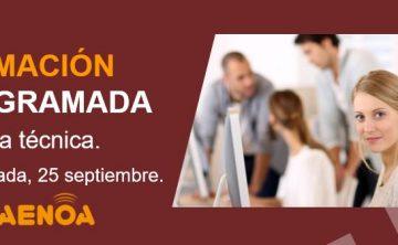 Jornada técnica. Gestión de la Formación Bonificada. Granada, 25 septiembre.