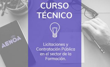 Licitaciones y Contratación Pública en el sector de la Formación. ONLINE