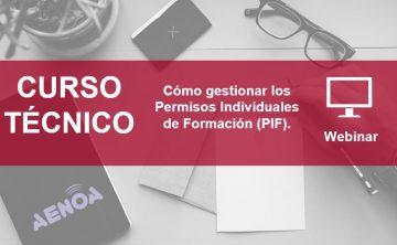 Curso: Cómo gestionar los Permisos Individuales de Formación (PIF)